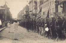 American Expeditionary Force marching down Svetlanskaya Street