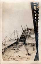 Bridge destroyed by Bolsheviks